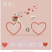 A fabulous tip for unsalesy sales!