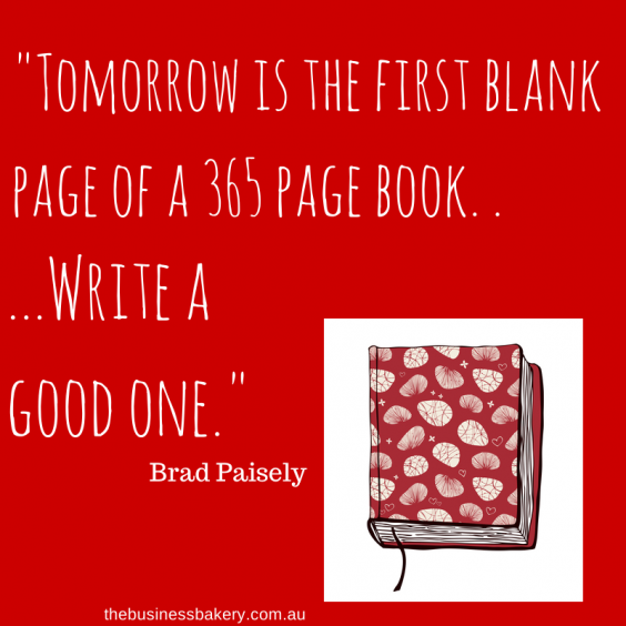 Tomorrow is the first blank page of a