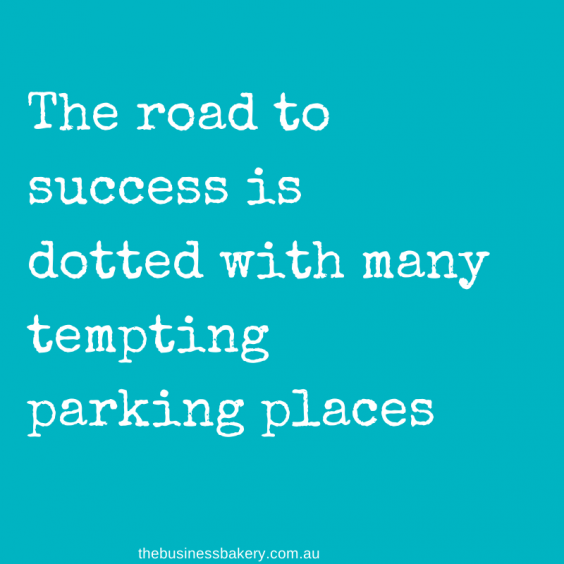 The road to success is dotted with many