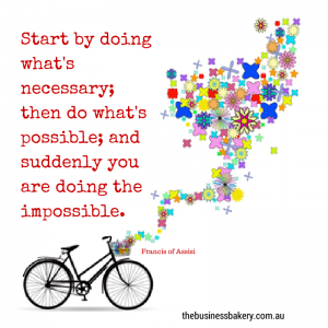 """Start by doing what's necessary; then"