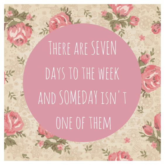 There are SEVEN days to the week and