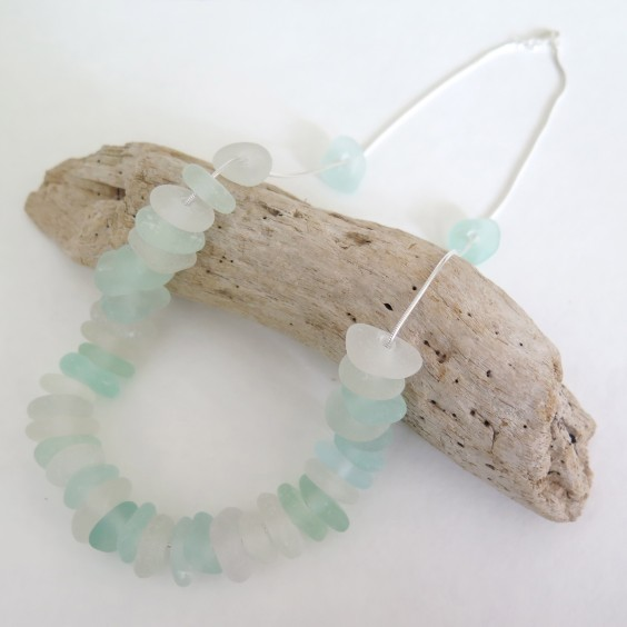 Beach glass necklace from Spindrift Collections