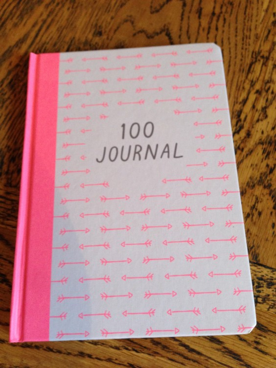 This is my 100 Day Journal. It's from Kikki K!