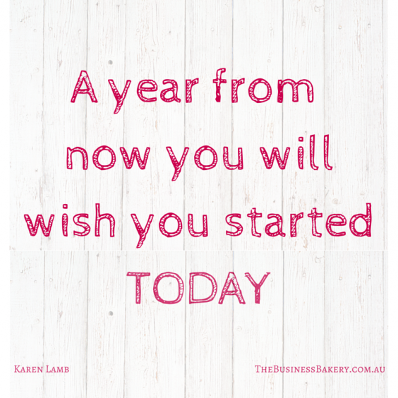 A year from now you will WISH you