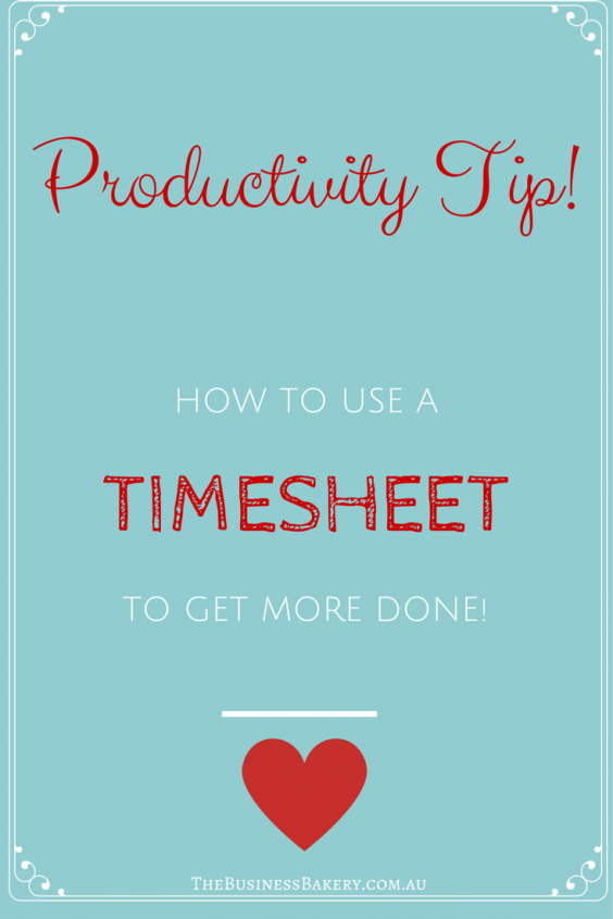 Timesheet for productivity