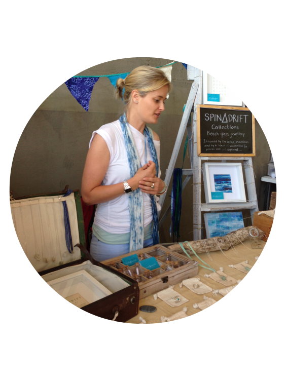 Natasha at her Spindrift Collections stall