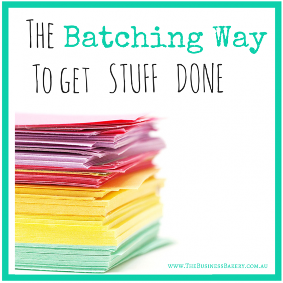 The Batching Way to get stuff done
