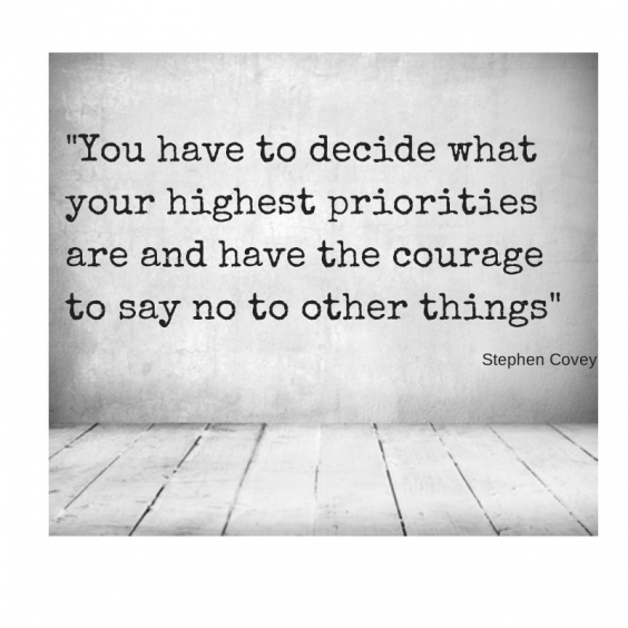 -You have to decide what your highest