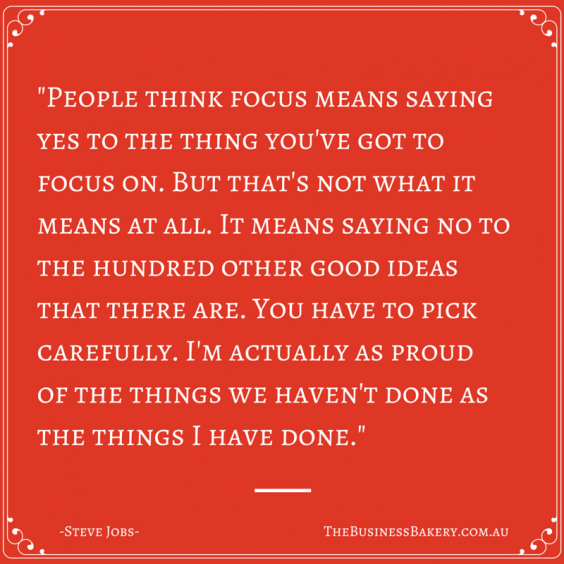 People think focus means saying yes to