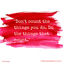 Don't count the things you do
