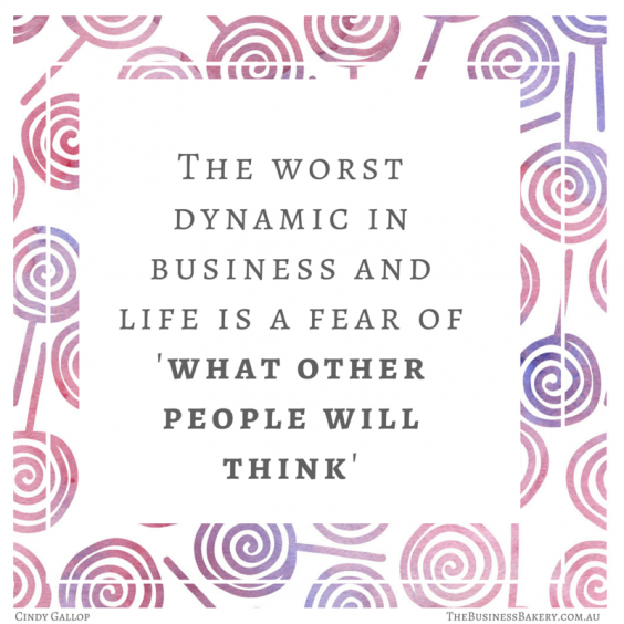 Fear of what other people will think