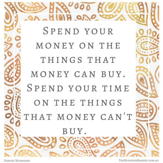 spend your money on the things that money can buy