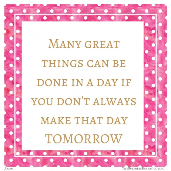 Many great things can be done in a day