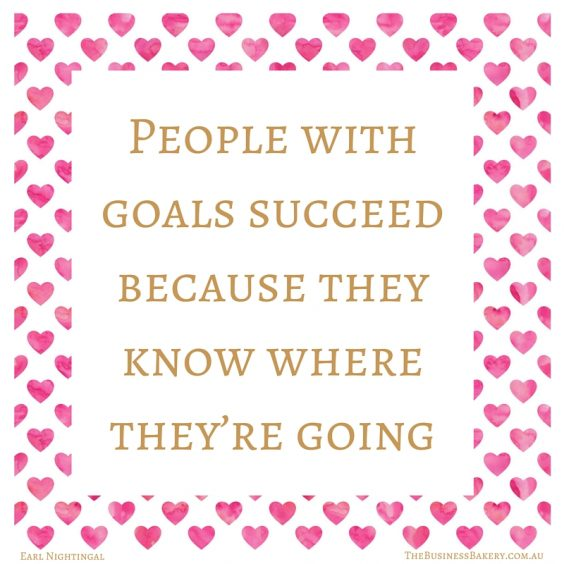 People with goals succeed