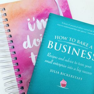 100 Day Goal journal plus how to bake a business